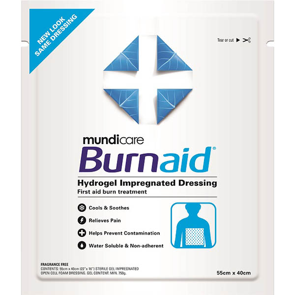Image for BURNAID GEL DRESSING PAD 550 X 400MM from Wetherill Park / Smithfield Office National