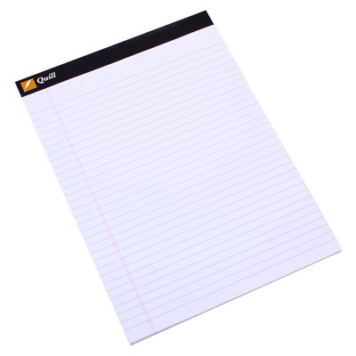 Image for QUILL EXECUTIVE PAD 60GSM 40 LEAF A4 WHITE from Office National Perth CBD