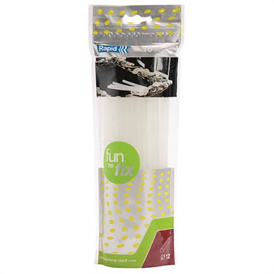 Image for RAPID FUN 2 FIX GLUE STICKS 12MM TRANSPARENT PACK 10 from Office National Perth CBD
