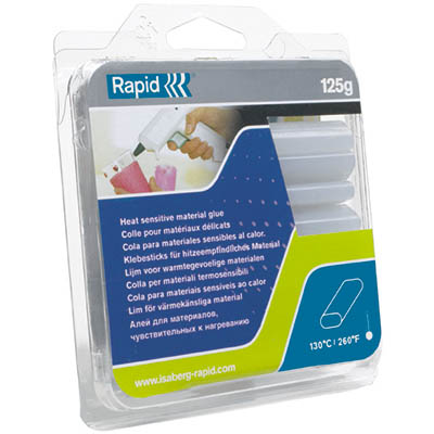 Image for RAPID OVAL GLUE STICKS TRANSPARENT PACK 18 from Office National Perth CBD