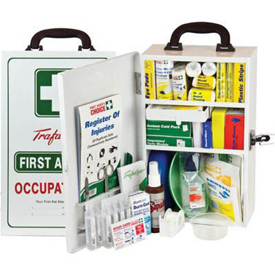Image for TRAFALGAR NATIONAL WORKPLACE FIRST AID KIT WALL MOUNT METAL from Exchange Printers Office National