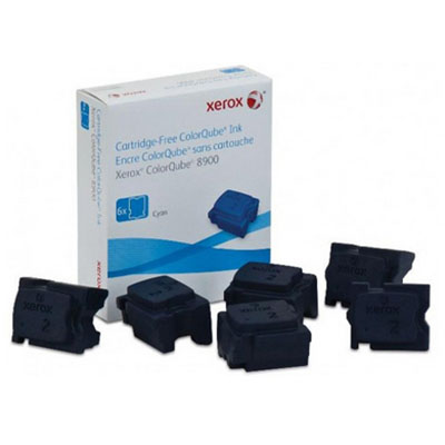 Image for FUJI XEROX 108R01030 COLORQUBE COLORSTIX CYAN PACK 6 from Surry Office National