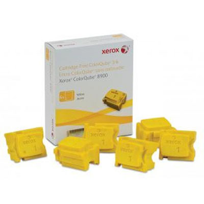 Image for FUJI XEROX 108R01032 COLORQUBE COLORSTIX YELLOW PACK 6 from Surry Office National