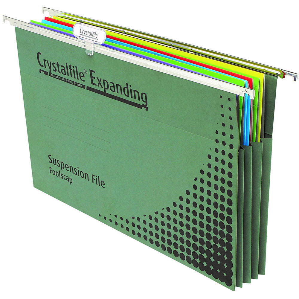 Image for CRYSTALFILE SUSPENSION FILES EXPANDING COMPLETE FOOLSCAP BOX 10 from Paul John Office National