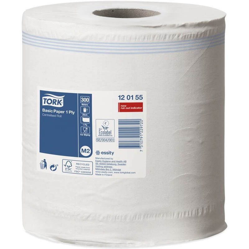 Image for TORK 120155 M2 BASIC CENTREFEED PAPER TOWEL 1 PLY 200MM X 300M CARTON 6 from Wetherill Park / Smithfield Office National