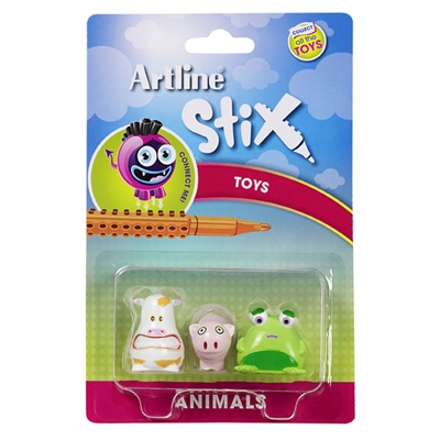 Image for ARTLINE STIX TOYS ANIMALS 1 ASSORTED PACK 3 from Office National Perth CBD