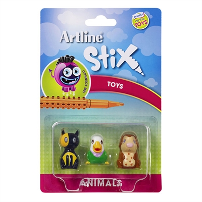 Image for ARTLINE STIX TOYS ANIMALS 2 ASSORTED PACK 3 from Office National Perth CBD