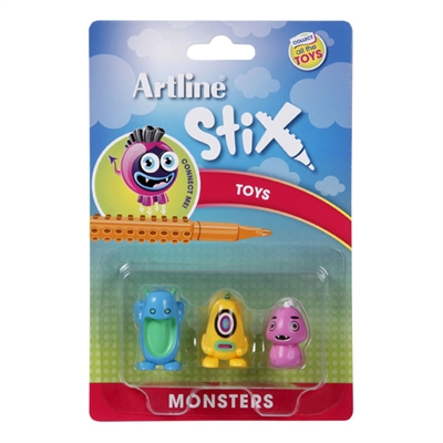 Image for ARTLINE STIX TOYS MONSTERS 2 ASSORTED PACK 3 from Office National Perth CBD