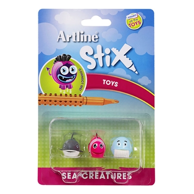 Image for ARTLINE STIX TOYS SEA CREATURES 2 ASSORTED PACK 3 from Axsel Office National