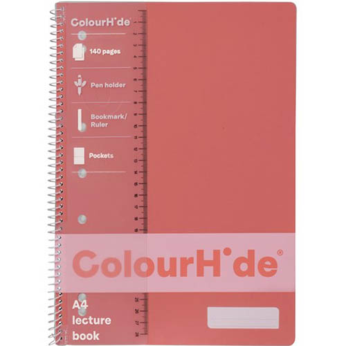 Image for COLOURHIDE MY TRUSTY LECTURE NOTEBOOK 140 PAGE A4 PINK from Axsel Office National