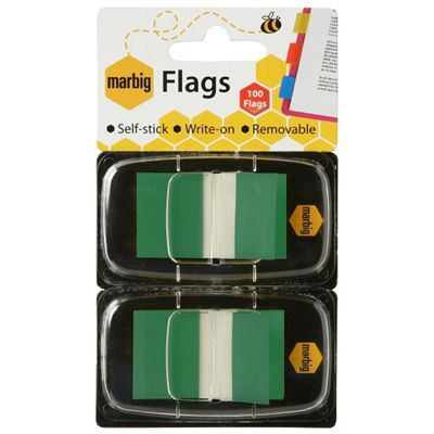 Image for MARBIG FLAGS POP-UP 50 FLAGS 25 X 44MM GREEN PACK 2 from Office National Perth CBD