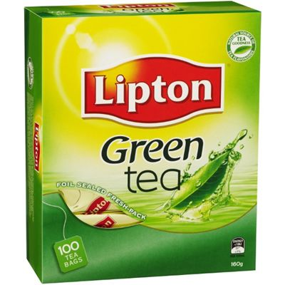 Image for LIPTON TEA GREEN STRING AND TAG PACK 100 from Express Office National