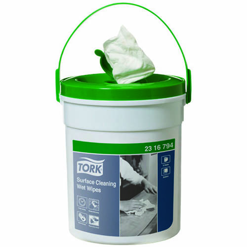 Image for TORK 2316794 SURFACE CLEANING WET WIPES 1 PLY BUCKET 72 WIPES from Wetherill Park / Smithfield Office National