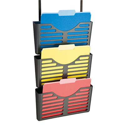 Image for ESSELTE VERTICALMATE FILE POCKET X3 WITH PARTITION HANGER CHARCOAL from Pirie Office National