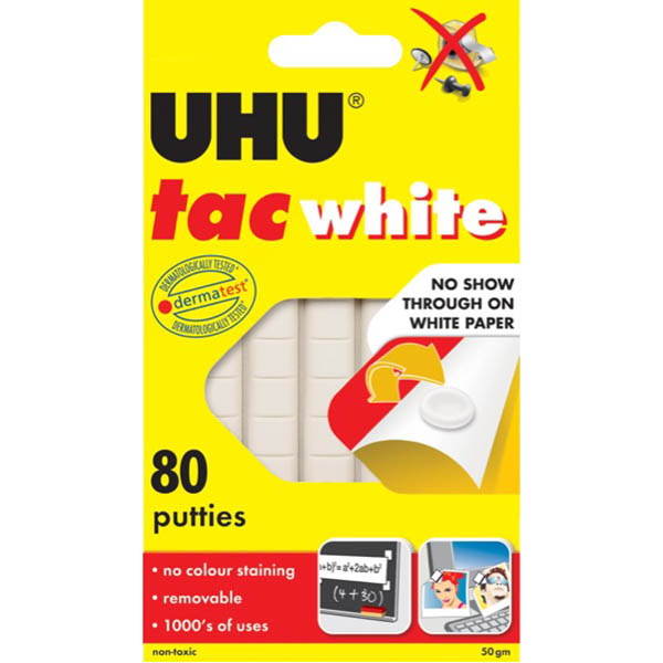 Image for UHU TAC WHITE 50GM from Office National Perth CBD
