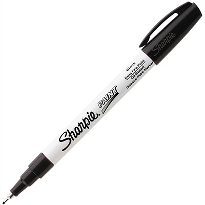 Image for SHARPIE OIL BASED PAINT MARKER BULLET ULTRA FINE 0.4MM BLACK PACK 12 from Axsel Office National