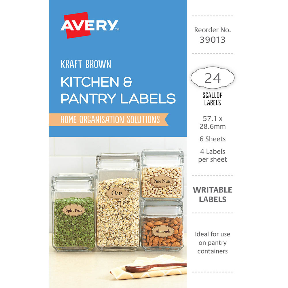 Image for AVERY 39013 LABELS MULTI USE REMOVABLE OVAL 57.1 X 28.6MM KRAFT BROWN WITH BLACK BORDER PACK 24 from The Paper Bahn Office National