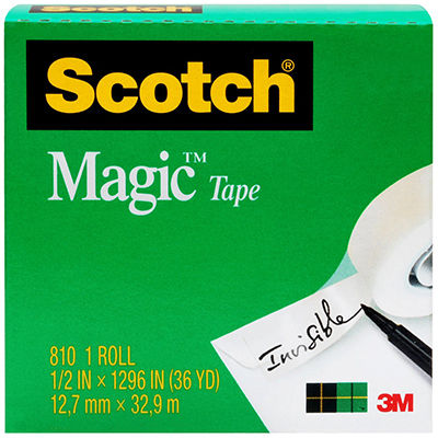 Image for SCOTCH 810 MAGIC TAPE 12MM X 33M from Mackay Business Machines (MBM)