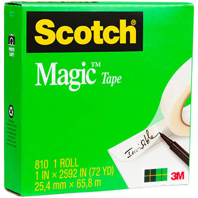 Image for SCOTCH 810 MAGIC TAPE 25MM X 66M from Mackay Business Machines (MBM)