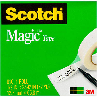 Image for SCOTCH 810 MAGIC TAPE 12MM X 66M from Mackay Business Machines (MBM)