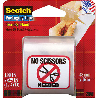 Image for SCOTCH 3841 PACKAGING TAPE TEAR BY HAND 48MM X 16M CLEAR from Exchange Printers Office National