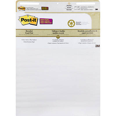 Image for POST-IT 559-RP RECYCLED SUPER STICKY EASEL PAD 635 X 775MM from Coleman's Office National