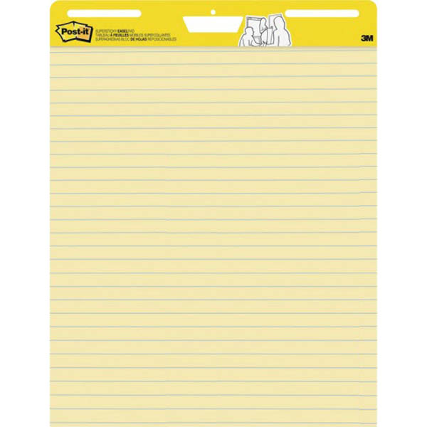 Image for POST-IT 561 EASEL PAD RULED YELLOW 635 X 775MM from Coleman's Office National
