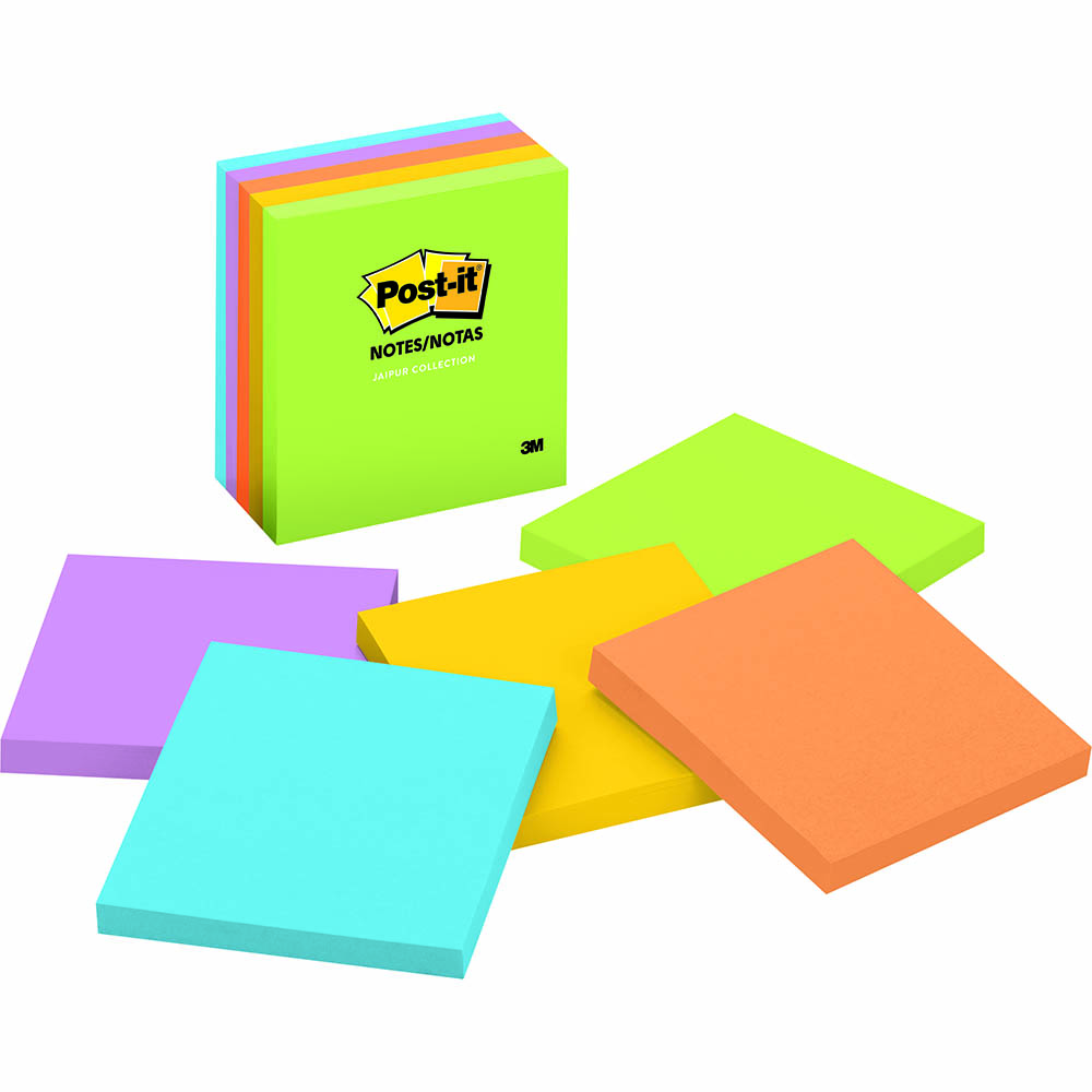 Image for POST-IT 654-5UC ULTRA NOTES 76 X 76MM JAIPUR PACK 5 from Paul John Office National