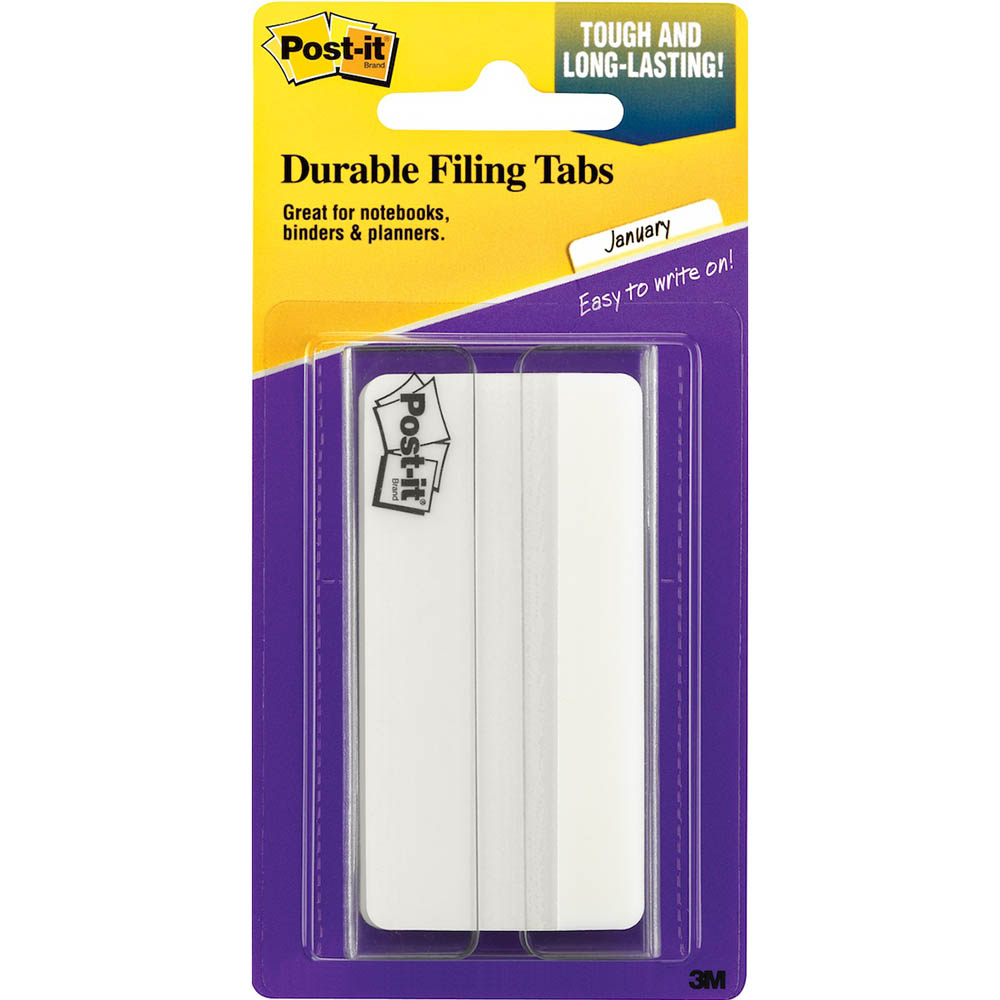 Image for POST-IT 686-50WH3IN DURABLE TABS/DIVIDERS 75MM WHITE from Office National Perth CBD