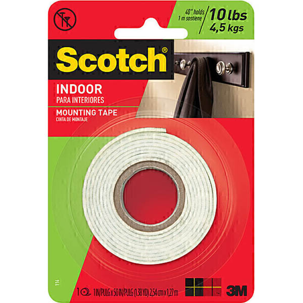 Image for SCOTCH 114 MOUNTING TAPE PERMANENT 25.4MM X 1.27M WHITE from Axsel Office National