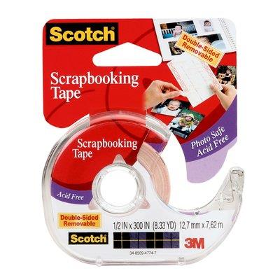 Image for SCOTCH 002 DOUBLE SIDED PHOTO AND DOCUMENT MOUNTING TAPE 12.7MM X 7.62M from Office National Perth CBD