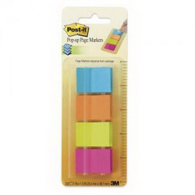 Image for POST-IT 672-P1 PAGE MARKERS 25 X 38MM ASSORTED PACK 4 from Axsel Office National