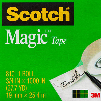 Image for SCOTCH 810 MAGIC TAPE MULTI PACK 19MM X 25M PACK 4 from Office National Perth CBD