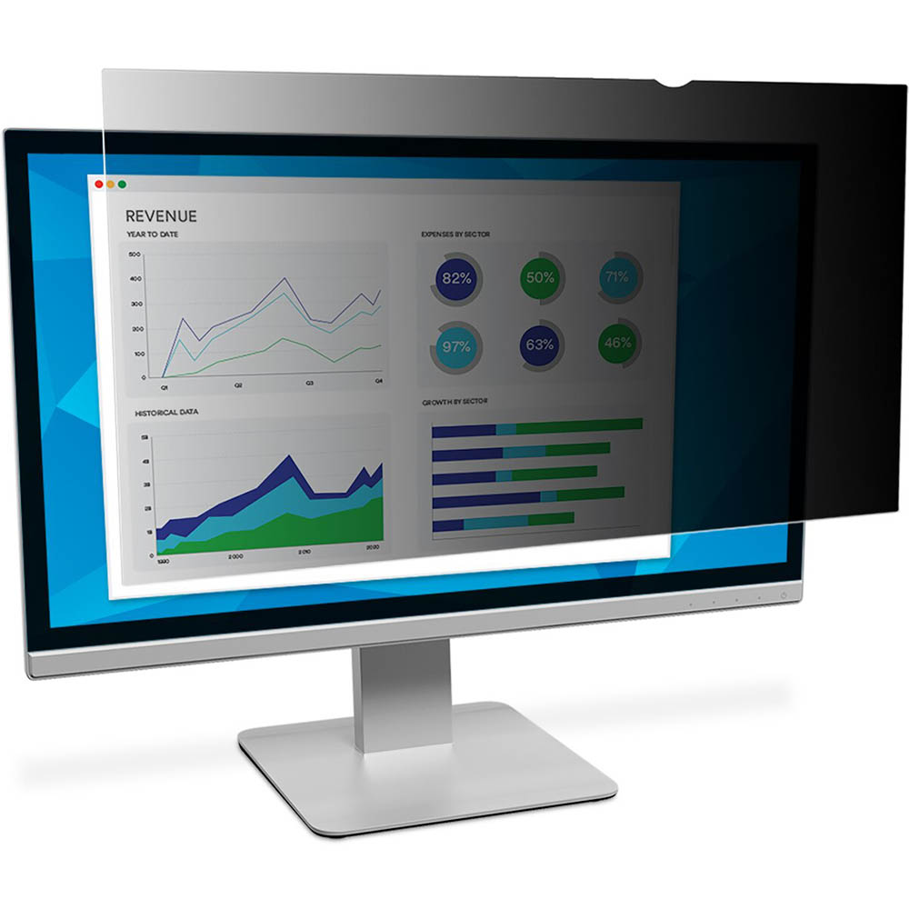 Image for 3M PF20.1 PRIVACY SCREEN FOR WIDSCREEN DESKTOP LCD MONITOR 20.1 INCH from PaperChase Office National