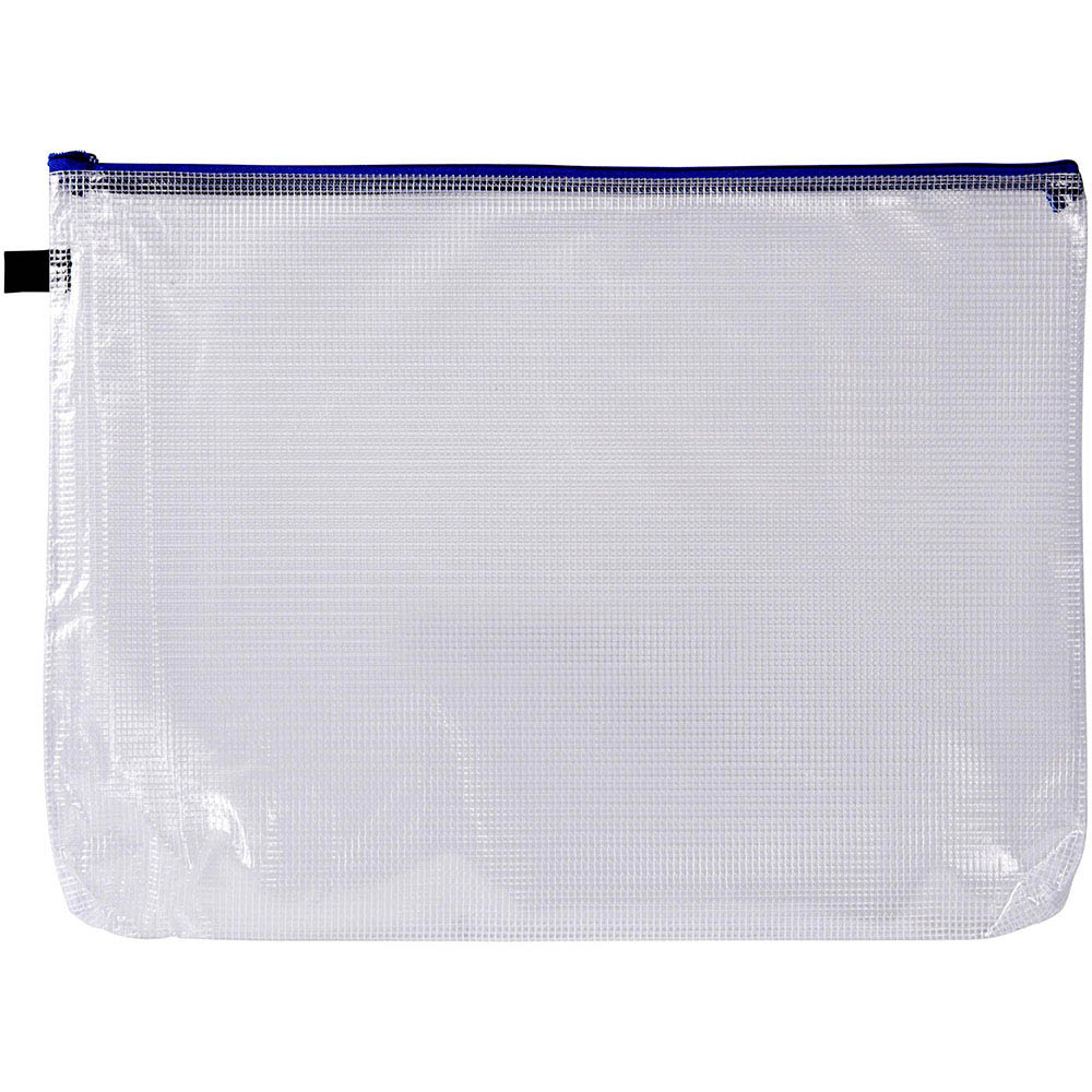 Image for AVERY 49500 HANDY POUCH WITH ZIP A3 CLEAR AND BLUE from Axsel Office National