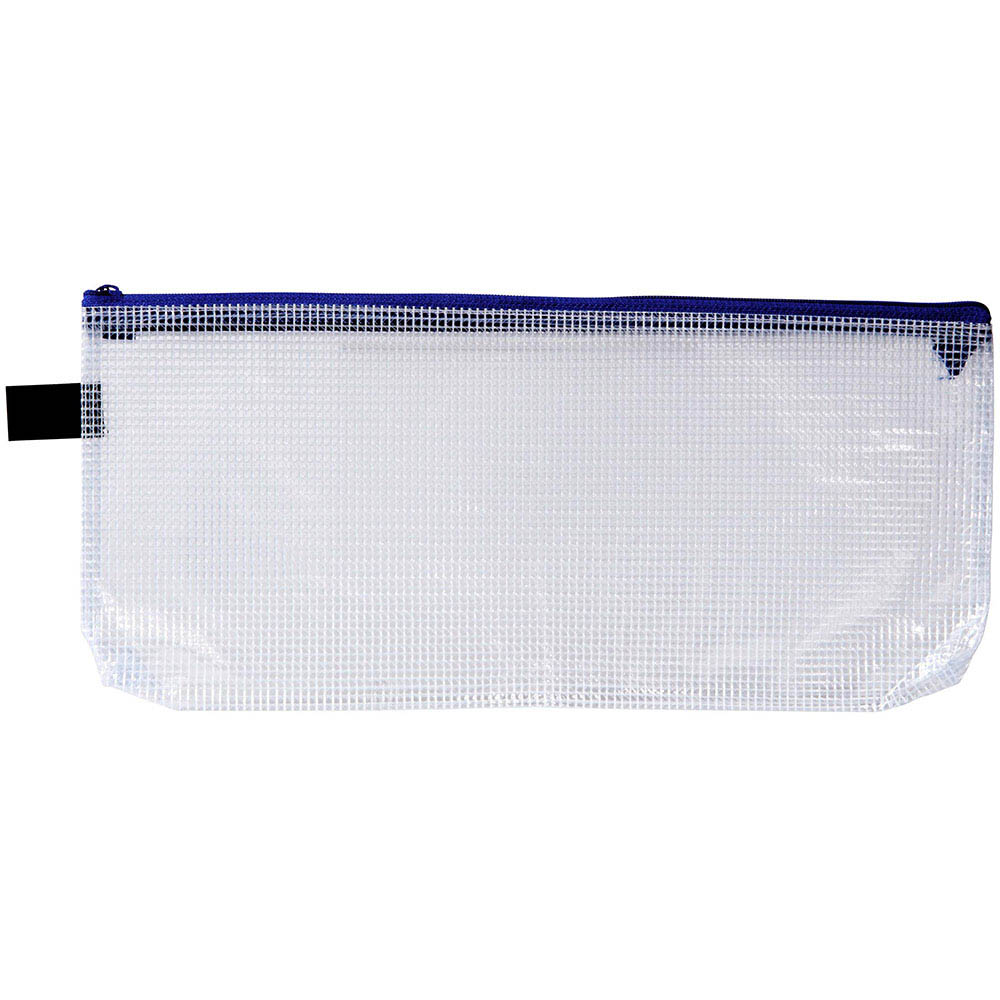 Image for AVERY PENCIL CASE WITH ZIP HANDY POUCH PENCIL CASE CLEAR AND BLUE from SBA Office National