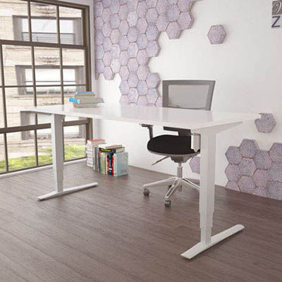 Image for CONSET 501-43 ELECTRIC HEIGHT ADJUSTABLE DESK 1500 X 800MM WHITE/WHITE from Holiday Coast Office