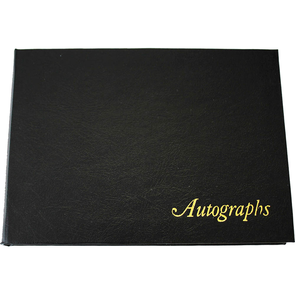 Image for CUMBERLAND AUTOGRAPH BOOK LEATHERGRAIN 105 X 145MM BLACK from Axsel Office National