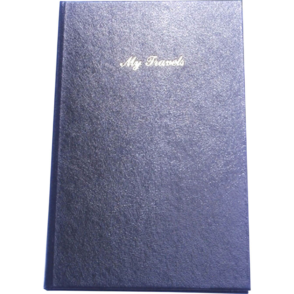 Image for CUMBERLAND TRIP BOOK LEATHERGRAIN 210 X 135MM BLACK from Office National Sydney Stationery