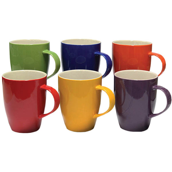 Image for CONNOISSEUR A LA CARTE MUGS 370ML ASSORTED PACK 6 from Pirie Office National