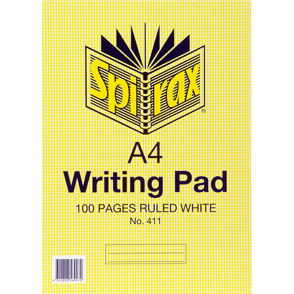 Image for SPIRAX 411 WRITING PAD 8MM RULED A4 100 PAGE from Axsel Office National