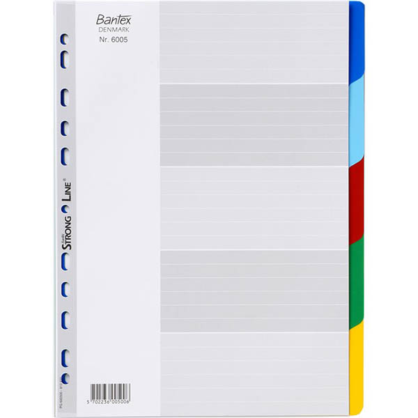 Image for BANTEX PP DIVIDER 5 CUT TAB A4 ASSORTED from Axsel Office National