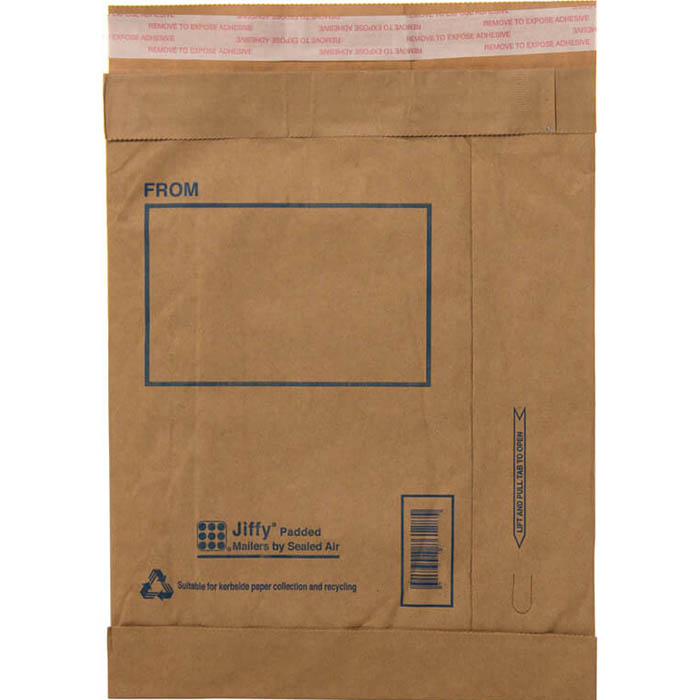 Image for JIFFY PADDED SELF-SEAL MAILER P6 300 X 405MM PACK 10 from Express Office National