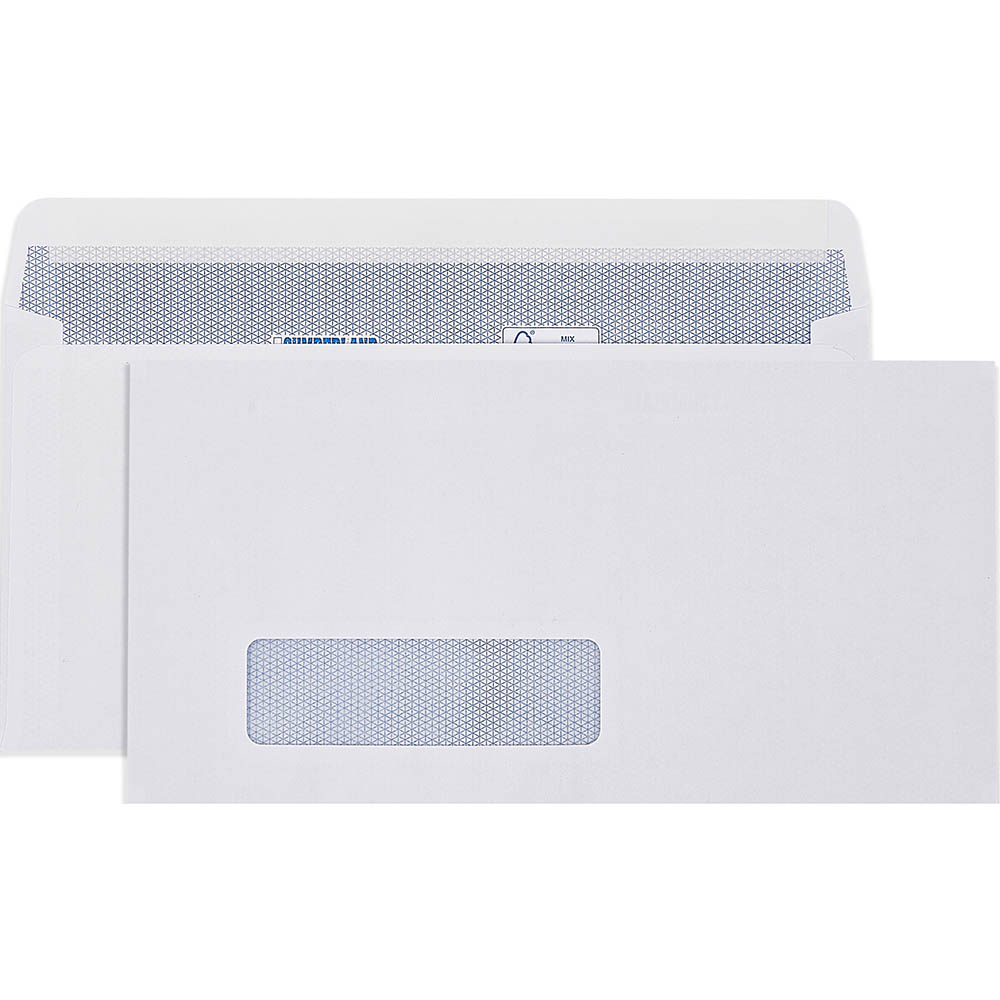 Image for CUMBERLAND DLX ENVELOPES SECRETIVE WALLET WINDOWFACE STRIP SEAL LASER 90GSM 235 X 120MM WHITE BOX 500 from Axsel Office National