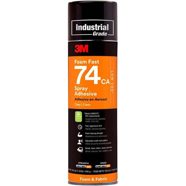 Image for 3M 74 FOAMFAST ADHESIVE SPRAY 489G from Mackay Business Machines (MBM)