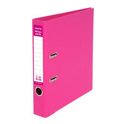 Image for COLOURHIDE HALF LEVER ARCH FILE A4 PINK from Office National Perth CBD