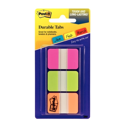 Image for POST-IT 686-PGOT DURABLE INDEXING AND FILING TABS. 12 EACH COLOUR 25 X 38MM PINK, GREEN, ORANGE. PACK 36 from Office National Perth CBD