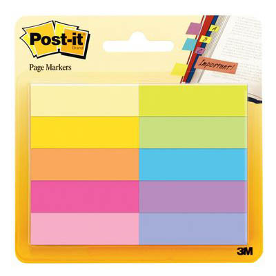 Image for POST-IT 670-10AB PAPER PAGE MARKERS 13 X 44MM ASSORTED PACK 10 from Surry Office National