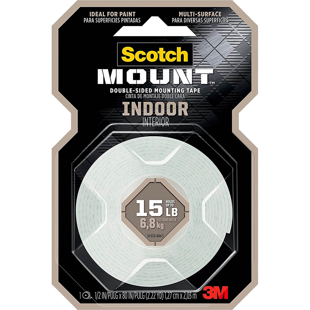 Image for SCOTCH 110P MOUNTING TAPE PERMANENT 13MM X 1.9M WHITE from Office National Perth CBD