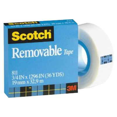 Image for SCOTCH 811 REMOVABLE MAGIC TAPE REFILL 25.4MM X 65.8M from Mitronics Corporation